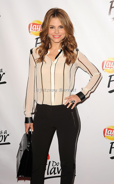 "May 6, 2013   Beverly Hills, Ca..Maria Menounos.Eva Longoria and the Lay's Brand Announce the Winning Flavor in Lay's "" Do Us a Flavor"" contest at Beso Restaurant in Hollywood CA..© Fitzroy Barrett / AFF-USA.COM"