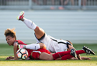 Boyds, MD. - Saturday, June 24 2017:   Hayley Raso, Estelle Johnson during a regular season National Women's Soccer League (NWSL) match between the Washington Spirit and the Portland Thorns FC at Maureen Hendricks Field, Maryland SoccerPlex.<br />  The Washington Spirit defeated the Portland Thorns FC 1-0.