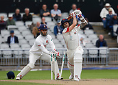 7th September 2017, Emirates Old Trafford, Manchester, England; Specsavers County Championship, Division One; Lancashire versus Essex; Kyle Jarvis of Lancashire is bowled by Simon Harmer of Essex and Lancashire are all out for 290