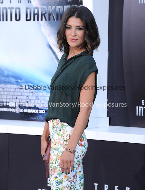 "Jessica Szohr  at Paramount Pictures' Premiere of  ""Star Trek Into Darkness"" held at The Dolby Theater in Hollywood, California on May 14,2013                                                                   Copyright 2013 Hollywood Press Agency"