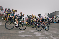 Chris Froome (GBR/SKY) flanked by his teammates up the Port de Bal&egrave;s (HC/1755m/11.7km/7.7%)<br /> <br /> 104th Tour de France 2017<br /> Stage 12 - Pau &rsaquo; Peyragudes (214km)