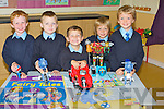 BREAK TIME:  Junior infants class from Bouleenshere National School Ballyheigue, enjoying their break on Tuesday last were l-r: Luke O'Mahony, Milo Cronin, Jack O'Halloran, Riain Donnelly and Tony Thornton.