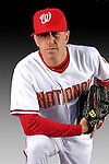 25 February 2007: Washington Nationals pitcher Brandon Claussen poses for his Photo Day portrait at Space Coast Stadium in Viera, Florida.<br /> <br /> Mandatory Photo Credit: Ed Wolfstein Photo<br /> <br /> Note: This image is available in a RAW (NEF) File Format - contact Photographer.