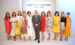 From left: Honorees Heidi Smith, Kristina Somerville, Stephanie Tsuru, Valerie Dieterich, Gayla Gardner,  Stephen Brunelle from Neiman Marcus, honorees Vicki West, Gracie Cavnar, Denise Castillo Rhodes, Gina Bhatia and Kristy Bradshaw at the Houston Chronicle's 2019 Best Dressed Luncheon and Fashion Show at the Post Oak Hotel Thursday March 28,2019.  (Dave Rossman Photo)