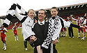 24/05/2009  Copyright  Pic : James Stewart.sct_jspa_07_airdrie_v-Ayr.AYR UTD MANAGER BRIAN REID CELEBRATES WITH HIS DAUGHTER, CHRISTINA, AND SON, KYLE.James Stewart Photography 19 Carronlea Drive, Falkirk. FK2 8DN      Vat Reg No. 607 6932 25.Telephone      : +44 (0)1324 570291 .Mobile              : +44 (0)7721 416997.E-mail  :  jim@jspa.co.uk.If you require further information then contact Jim Stewart on any of the numbers above.........