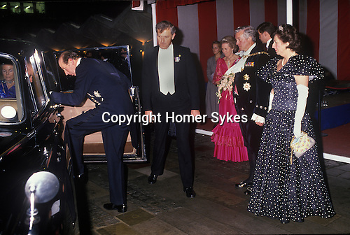 The Lady Mayoress. Banquet at the Mansion House, City of London UK Circa 1985. the Duke and Duchess of Kent