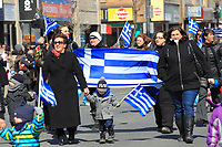 defile de la Fete national grecque<br /> , le 29 mars 2015<br /> <br /> PHOTO :  Agence Quebec Presse