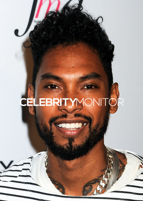 NEW YORK CITY, NY, USA - SEPTEMBER 05: Miguel arrives at the 2nd Annual Fashion Media Awards held at the Park Hyatt on September 5, 2014 in New York City, New York, United States. (Photo by Celebrity Monitor)