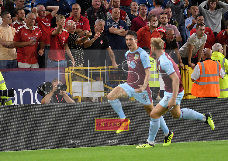 02/08/2018 Europa League Second Qualifying Round 2nd leg Burnley v Aberdeen<br /> <br /> Jack Cork celebrates after scoring Burnley's first half extra time goal