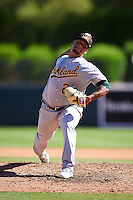 Mesa Solar Sox pitcher Frankie Montas (21), of the Oakland Athletics organization, during a game against the Glendale Desert Dogs on October 20, 2016 at Camelback Ranch in Glendale, Arizona.  Glendale defeated Mesa 3-2.  (Mike Janes/Four Seam Images)