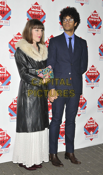 LONDON, ENGLAND - FEBRUARY 26: Lydia Fox &amp; Richard Ayoade attend the NME Awards 2014, O2 Academy Brixton, Stockwell Rd., on Wednesday February 26, 2014 in London, England, UK.<br /> CAP/CAN<br /> &copy;Can Nguyen/Capital Pictures