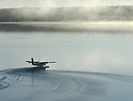 Float plane taking off.
