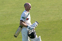 Adam Lyth of Yorkshire leaves the field having been dismissed for 27 during Essex CCC vs Yorkshire CCC, Specsavers County Championship Division 1 Cricket at The Cloudfm County Ground on 4th May 2018