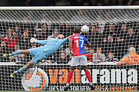Magnificent save from Mark Cousins of Dagenham during Woking vs Dagenham & Redbridge, Vanarama National League Football at The Laithwaite Community Stadium on 7th October 2017