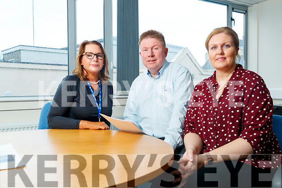 Patricia Dowling (coordinator NEWKD), Kieran Barry (Area manager Department of Employment Affairs and Social Protection) and Elaine McKenna (coordinator Tralee Local Employment Service), pictured on Monday last.