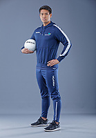 Pictured: Tuesday 19 March 2019<br /> Re: Cardiff and Vale College new kit supplier Macron, photoshoot at Leckwith Stadium in Cardiff, Wales, UK.