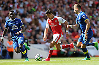 Alexis Sanchez of Arsenal goes past Morgan Schneiderlin of Everton during Arsenal vs Everton, Premier League Football at the Emirates Stadium on 21st May 2017