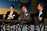 David McCarthy, co-founder of the Incident Control Room, Damien O'Regan, co-founder of Dingadeal and Shane McAllister founder of MobaNode  at the YEP 2011 Blue Sky Day.
