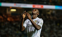 Leeds United's Eddie Nketiah reacts<br /> <br /> Photographer Alex Dodd/CameraSport<br /> <br /> The Carabao Cup Second Round- Leeds United v Stoke City - Tuesday 27th August 2019  - Elland Road - Leeds<br />  <br /> World Copyright © 2019 CameraSport. All rights reserved. 43 Linden Ave. Countesthorpe. Leicester. England. LE8 5PG - Tel: +44 (0) 116 277 4147 - admin@camerasport.com - www.camerasport.com