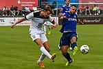 01.08.2020, C-Team Arena, Ravensburg, GER, WFV-Pokal, FV Ravensburg vs SSV Ulm 1846 Fussball, <br /> DFL REGULATIONS PROHIBIT ANY USE OF PHOTOGRAPHS AS IMAGE SEQUENCES AND/OR QUASI-VIDEO, <br /> im Bild Lennart Stoll (Ulm, #18), Philipp Altmann (Ravensburg, #14)<br /> <br /> Foto © nordphoto / Hafner