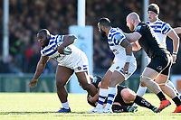 Beno Obano of Bath Rugby in possession. Gallagher Premiership match, between Exeter Chiefs and Bath Rugby on March 24, 2019 at Sandy Park in Exeter, England. Photo by: Patrick Khachfe / Onside Images