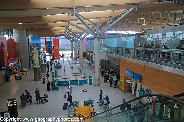 Interior of Cork airport terminal building, County Cork, Ireland, Irish Republic