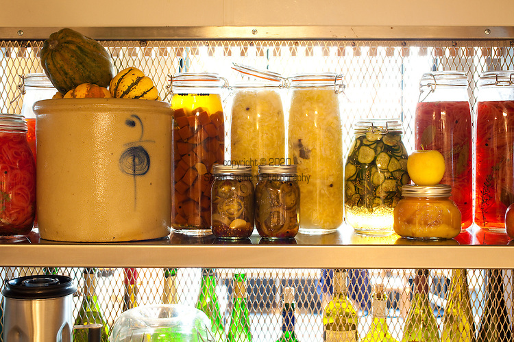 House made pickled vegetables in the kitchen at Grüner, Chris Israel's newest Portland Restaurant.