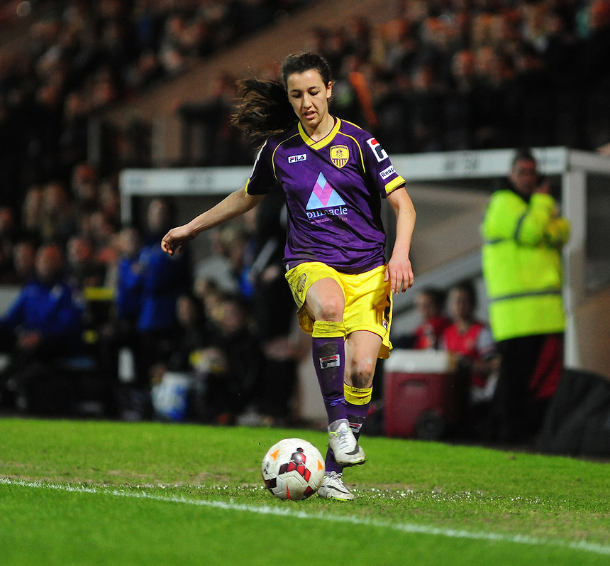 Notts County Ladies' Dunia Susi&nbsp;<br /> <br /> Photo by Chris Vaughan/CameraSport<br /> <br /> Women's Football - FA Women&rsquo;s Super League 1 - Notts County Ladies v Arsenal Ladies - Wednesday 16th April 2014 - Meadow Lane - Nottingham<br /> <br /> &copy; CameraSport - 43 Linden Ave. Countesthorpe. Leicester. England. LE8 5PG - Tel: +44 (0) 116 277 4147 - admin@camerasport.com - www.camerasport.com