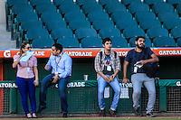 Prensa, durante partido3 de beisbol entre Naranjeros de Hermosillo vs Mayos de Navojoa. Temporada 2016 2017 de la Liga Mexicana del Pacifico.<br /> © Foto: LuisGutierrez/NORTEPHOTO.COM