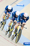 The team of France with Thomas Denis, Corentin Ermenault, Florian Maitre and Benjamin Thomas compete in Men's Team Pursuit 1st Round match as part of the 2017 UCI Track Cycling World Championships on 12 April 2017, in Hong Kong Velodrome, Hong Kong, China. Photo by Victor Fraile / Power Sport Images