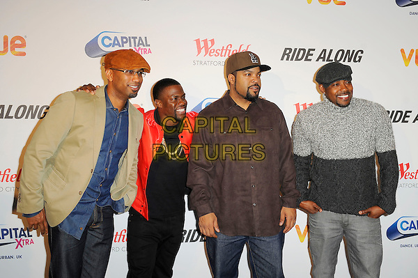 LONDON, ENGLAND - February 27: Tim Story, Kevin Hart, Ice Cube(O'Shea Jackson) and Will Packer attend the UK Premiere of 'Ride Along' at Vue Cinema, Westfield Stratford City on February 27, 2014 in London, England<br /> CAP/MAR<br /> &copy; Martin Harris/Capital Pictures