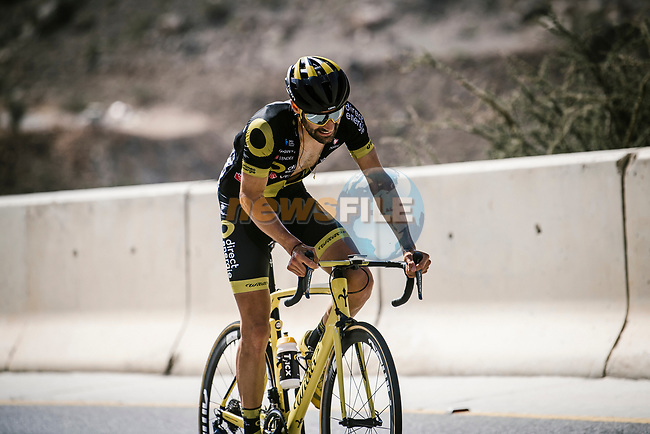 Fabien Grellier (FRA) Direct Energie from the breakaway during Stage 5 of the 10th Tour of Oman 2019, running 152km from Samayil to Jabal Al Akhdhar (Green Mountain), Oman. 20th February 2019.<br /> Picture: ASO/P. Ballet | Cyclefile<br /> All photos usage must carry mandatory copyright credit (© Cyclefile | ASO/P. Ballet)
