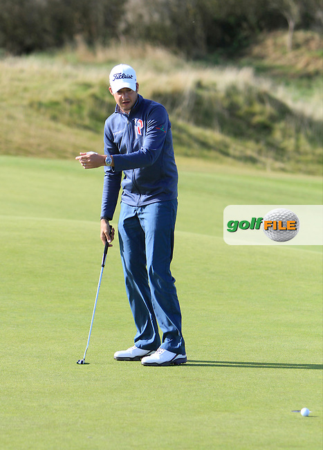 Simon Thornton (IRL) during Round 1of the Alfred Dunhill Links Championship at Kingsbarns Golf Club on Thursday 26th September 2013.<br /> Picture:  Thos Caffrey / www.golffile.ie