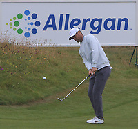 Lucas Bjerregaard (DEN) on the 5th green during Round 2 of the Irish Open at LaHinch Golf Club, LaHinch, Co. Clare on Friday 5th July 2019.<br /> Picture:  Thos Caffrey / Golffile<br /> <br /> All photos usage must carry mandatory copyright credit (© Golffile | Thos Caffrey)