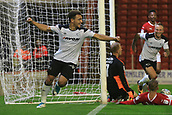 12th September 2017, Oakwell, Barnsley, England; Carabao Cup, second round, Barnsley versus Derby County; Mason Bennett of Derby County celebrates his goal