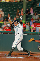 Daytona Tortugas infielder Taylor Sparks (12) at bat during a game against the Tampa Yankees at Radiology Associates Field at Jackie Robinson Ballpark on June 13, 2015 in Daytona, Florida. Tampa defeated Daytona 8-6. (Robert Gurganus/Four Seam Images)