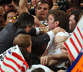 New York, NY - September 1, 2004 -- Impromptu protest on the floor during the remarks of White House Chief of Staff Andrew Card at the 2004 Republican Youth Convention in Madison Square Garden in New York, New York on Wednesday, September 1, 2004. .Credit: Ron Sachs / CNP                                                              .(RESTRICTION: No New York Metro or other Newspapers within a 75 mile radius of New York City)