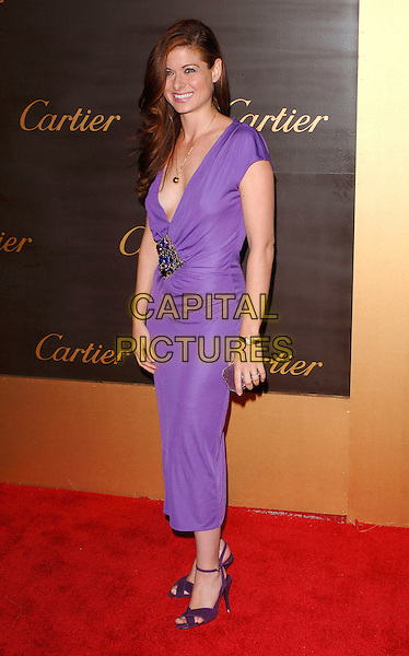 DEBRA MESSING.Cartier celebrates 25 years in Beverly Hills, in honour of projest A.L.S. held at the Rodeo Drive Boutique, Beverly Hills, Los Angeles, California, USA,.May 9th 2005..full length purple dress deborah low cut plunging neckline.Ref: MOO.www.capitalpictures.com.sales@capitalpictures.com.©Capital Pictures.