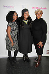 Ashunta is presented with the celebrity makeup artist award at Color of Beauty Awards and poses with her daughter and mom. It hosted by VH1's Gossip Table's Delaina Dixon and Maureen Tokeson-Martin on February 28, 2015 with red carpet, awards and cocktail reception at Ana Tzarev Gallery, New York City, New York.  (Photo by Sue Coflin/Max Photos)