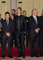 Cristiano Ronaldo, Maverick Vinales and Vicente del Bosque attend the National Sports Awards ceremony at El Pardo Palace. December 05, 2012. (ALTERPHOTOS/Caro Marin) NortePhoto