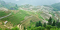 The Longji Rice Terraces are located 2 hours from Guilin, China, May 2007