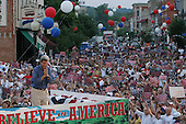 Hannibal, Missouri.USA.August 4, 2004..Senator John Kerry and his wife Teresa campaign for US President on a tour across America. ..