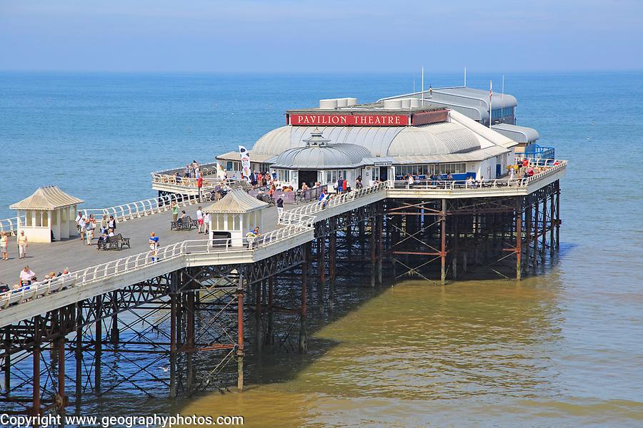 Sunny summer day sea and pier at  Cromer, Norfolk, England, UK