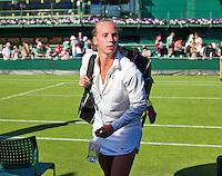 England, London, June 29, 2015, Tennis, Wimbledon, Richel Hogenkamp (NED)<br /> Photo: Tennisimages/Henk Koster