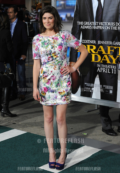 Laura Steinel at the Los Angeles premiere of her movie &quot;Draft Day&quot; at the Regency Village Theatre, Westwood.<br /> April 7, 2014  Los Angeles, CA<br /> Picture: Paul Smith / Featureflash
