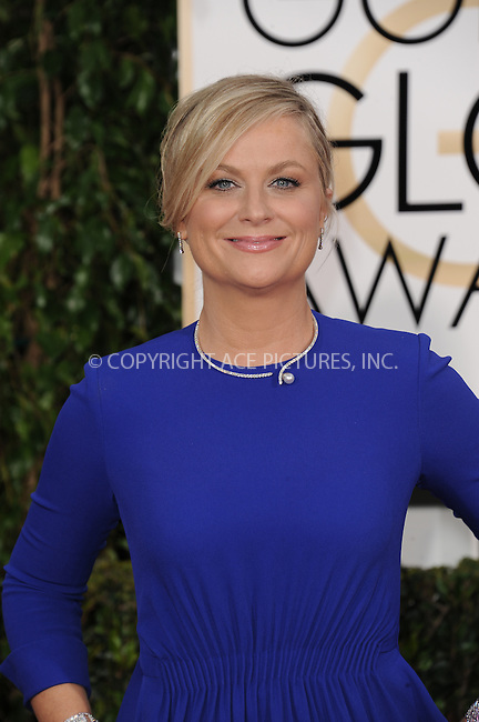 WWW.ACEPIXS.COM<br /> <br /> January 11 2015, LA<br /> <br /> Amy Poehler arriving at the 72nd Annual Golden Globe Awards at The Beverly Hilton Hotel on January 11, 2015 in Beverly Hills, California.<br /> <br /> <br /> By Line: Peter West/ACE Pictures<br /> <br /> <br /> ACE Pictures, Inc.<br /> tel: 646 769 0430<br /> Email: info@acepixs.com<br /> www.acepixs.com