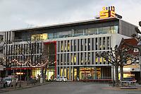 Zentrale der Kreissparkasse Groß-Gerau, bei der ein Mitarbeiter im Zentrum eines E-Mail Skandals steht und gerade beurlaubt wurde - 05.01.2017: Zentrale der Kreissparkasse Groß-Gerau