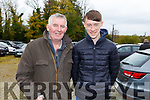 Bill and Darragh Keane from Listowel at the Castleisland Coursing meeting on Monday.