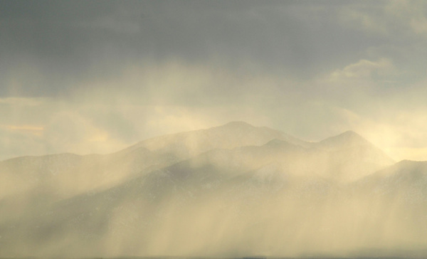 Filtered light over the Sandia Mountains