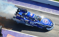 Apr. 28, 2012; Baytown, TX, USA: Aerial view of NHRA funny car driver Robert Hight during qualifying for the Spring Nationals at Royal Purple Raceway. Mandatory Credit: Mark J. Rebilas-